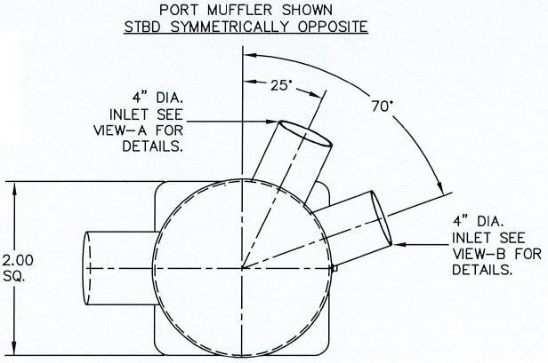 Centek 1602745 Cruisers Inc Port Muffler V0884600
