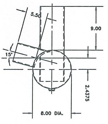Centek 1603515 Silverton Muffler used on GM 8.1 L engine