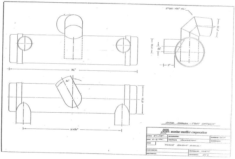 Centek XS-SIL-P875 Muffler, replaces XS-SIL-P875 on