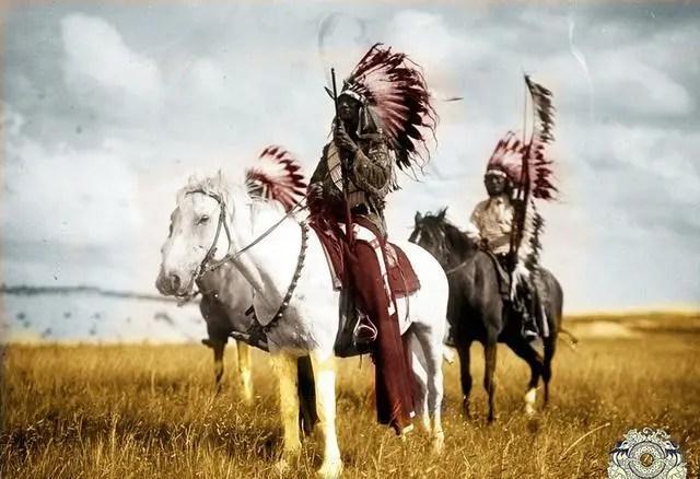 120年前的印第安人老照片:幾乎被美國人趕盡殺絕。圖2女子很漂亮_騰訊新聞