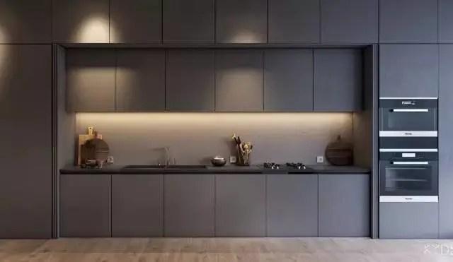 grey kitchen backsplash cabinet pull outs 高级灰厨房 男人的最爱 腾讯网 灰色并不总是低调的 适当地为厨房注入鲜艳的色彩 用亮色 黄光等打造全新的视觉 格调灰 厨房就这样悄然诞生