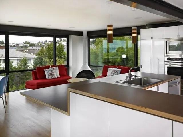 kitchen counter options console 厨房台面用什么材料好 15个厨房台面材料选择指南 腾讯网 塑料层压板厨房柜台