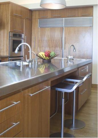 kitchen counter options unique canisters 厨房台面用什么材料好 15个厨房台面材料选择指南 腾讯网 不锈钢厨房柜台