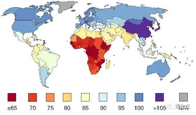 """""""全球平均智商分布圖"""":不誠實的智力測驗。及其血腥往事_騰訊新聞"""