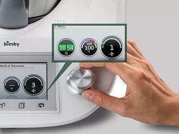 bimby kitchen robot all in one appliances 有了这台厨房神器 动动手指就能当大厨 腾讯网 上面那个旋钮有几项功能 一个是加热系统的温度选择