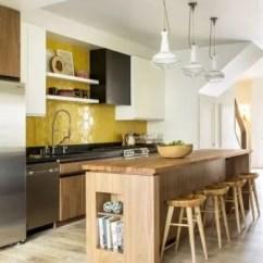 Kitchen Backsplash Design Fire Extinguisher 家装 2018年5个最佳厨房设计趋势值得一试 厨房设计趋势 天然的木色与金色饰面