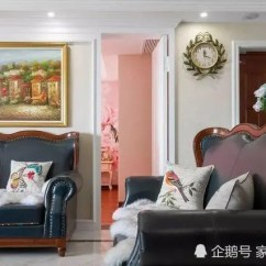 Retro Kids Kitchen Corner Drawer Cabinet 172 大户型美式混搭风 复古优雅气质 厨房大气超级赞 浅色的背景墙搭配白色的石膏线 结合一幅大壁画 呈现出美观又有层次感的视觉效果 装饰力极好 旁边有个隐形门 直通儿童房