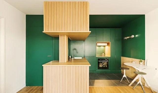 kitchen laminate lowes faucets on sale 时尚圈大热的拼色趋势 运用在厨房空间会怎样 厨房层压板