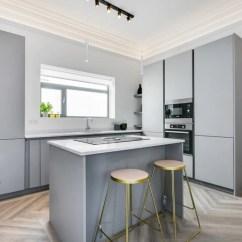 Grey Kitchen Island Design Bangalore 实拍现代风格二居室装修设计注重自然采光 厨房区域