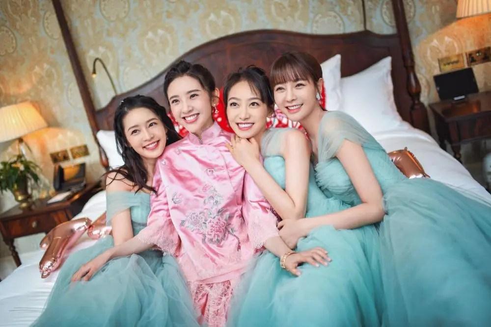 張若昀唐藝昕結婚,三位伴娘太美,與新娘的同框照被熱議