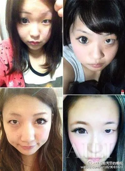 她們化妝只化了一邊,整張臉一對比,老公再也淡定不了啦!
