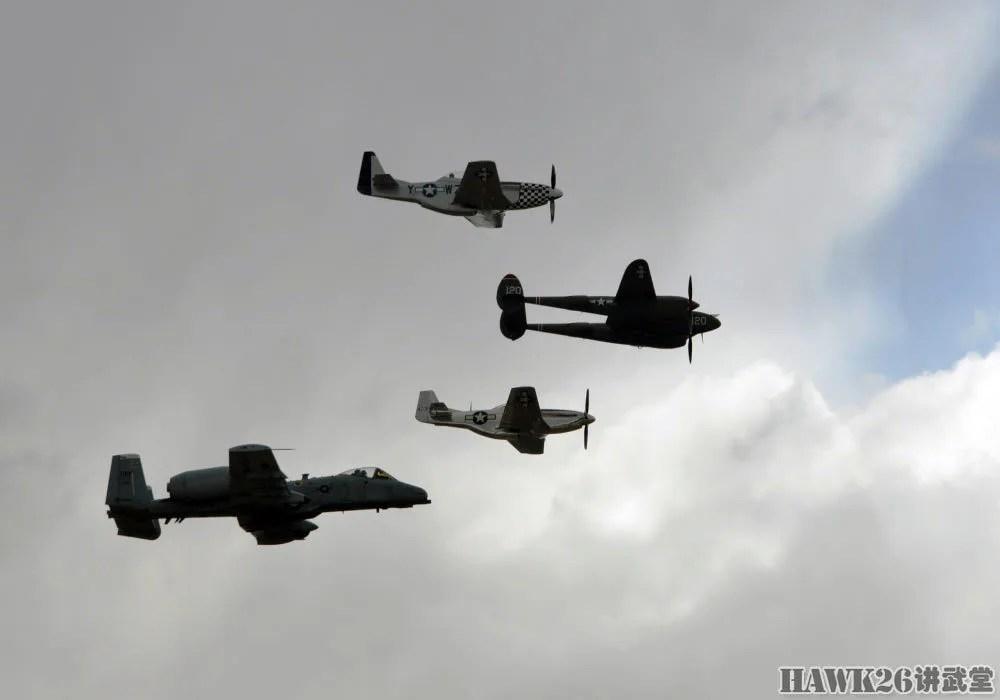 穿越時空:罕見的經典戰機混合編隊