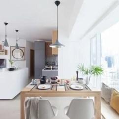 Kitchen Island With Range Tile Table 设计大师做的装修果然不同凡响房子因设计而价值倍增 左侧可以看到 客厅的电视柜其实做成了l型 客厅是长条形的 但与厨房岛相融合之后 其实范围更广了