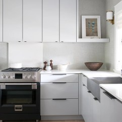 How To Redesign A Kitchen Remodel Costs 如何把个性带到一个白色厨房 天天快报 在重新设计这个厨房时 把传统的瓷砖换成了更意想不到的东西 一种人造草花墙纸 这是乙烯基树脂 所以它仍然是完全可擦拭的 现在 这种感觉就像一种生活空间 而不是