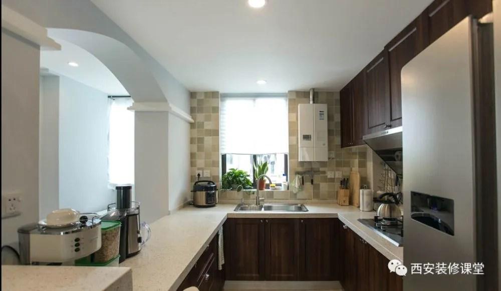 kitchen disposal cabinet hinges types 100平美式 开放式厨房 书房 天天快报 设计平面图纸 两室空间 做了开放式厨房处理 挤出一个小书房区域