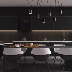 Black Kitchen Tables Colorful Appliances 室内设计 33个黑色餐厅 天天快报 黑色厨房桌子
