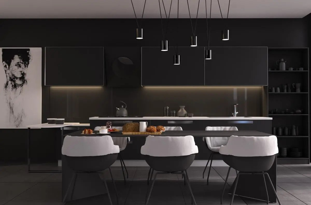 black kitchen table and chairs used on wheels for sale 室内设计 33个黑色餐厅 天天快报 黑色厨房桌椅