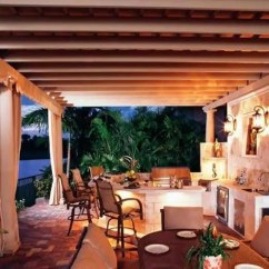 Outdoor Kitchen Refacing Cost 欧美时尚家居 45个欧式户外厨房和庭院设计创意 奢华 梦幻 户外厨房