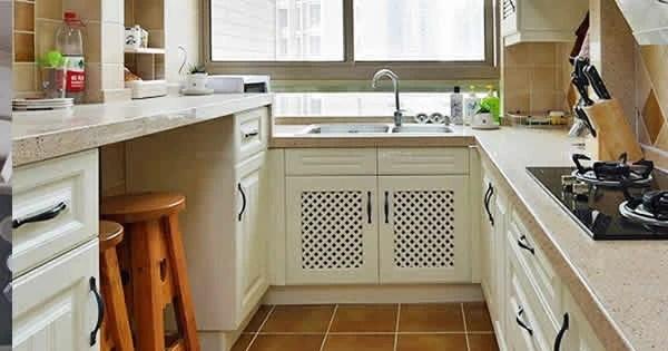 floor tile for kitchen 2 tier island 厨房地砖到底该怎么选 天天快报 相对于卧室客厅等地面装修 厨房基本上都会采用地砖 而基本上不会涉及到木地板之类的 但是虽说如此 厨房地砖的选择有时候也让人烦恼 很多看起来不错的效果 但是真