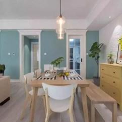Kitchen Table Set With Bench Gel Mats For 130平北欧三居室 花费37万 厨房这样设计才最实用 天天快报 餐厅 将与厨房之间的隔墙刷的蓝绿色 另一侧墙则是以文化石作为装饰 很好的与风格搭配起来 整个空间充满生机和活力 餐厅摆放