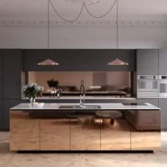 Kitchen Stool Virtual Design Tool 室内设计 40个简约主义厨房 来自超级光滑的灵感 天天快报 再往深一点的选择 这个铜色和黑色极简主义风格的厨房几乎是未来派风格