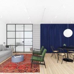 Colorful Kitchen Rugs Havertys Island 多彩新型北欧风单身公寓 充满创意与艺术感的独特设计 腾讯网 同时北欧风也可以千变万化 聪明的李小姐改变了一成不变的单一色调 为自己设计了一套多彩的新型北欧风公寓