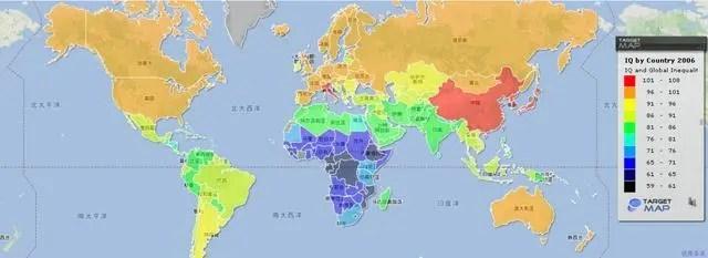 全球智商分布圖:中國人日本人智商最高_移動騰訊網