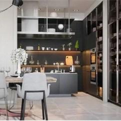 Specialty Kitchen Stores Honest Preference 室内设计 20个厨房照明设计的案例 天天快报 有纹路的厨房橱柜门应该有良好的照明 以体现其设计特点的深度 这里的厨房设计也有一个黑色的特色墙