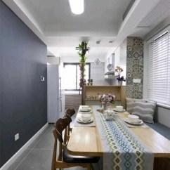 60 Inch Kitchen Table Office Furniture 78平北欧两居很漂亮 可惜客厅没有窗户 天天快报 入口处有一个鞋帽柜 左侧是厨房区 右侧是通往客厅和卧室的通道 基本上是长条形图案