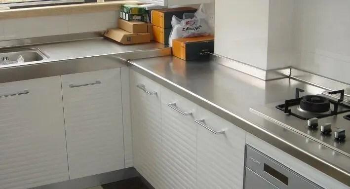 kitchen countertop decor crosley steel cabinets 厨房台面用大理石太贵 换成它试试 性价比高 厨房台面装饰
