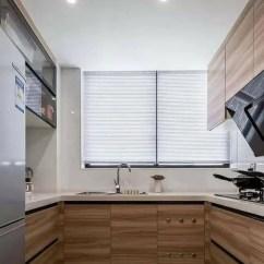 Kitchen Shades Table For Small 小户型厨房装修效果图 这些好看又实用的厨房设计了解一下 天天快报 厨房色调与客厅做了风格的延续 干净精致 简约现代的家具木作与大理石搭配