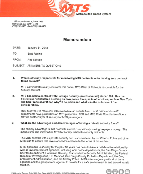 MTS official response
