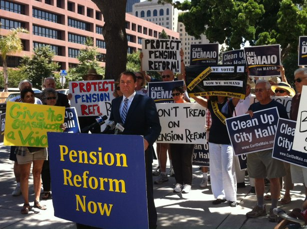 Carl DeMaio calls for implementation of Proposition B in 2012. The former councilman announced his candidacy for Congress last month.   Photo: KPBS