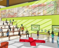 A rendering of the interior space of Design 39 from the PUSD website.