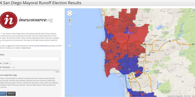 2014 San Diego Mayoral Runoff Results