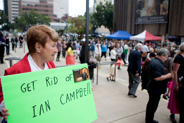 Ian Campbell protester