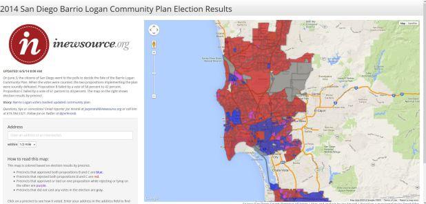 Barrio Logan voting map