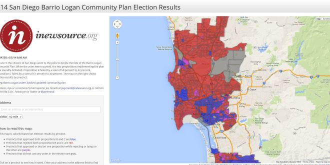 2014 San Diego Barrio Logan Community Plan Election Results