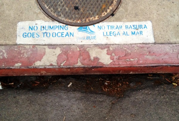 Stormwater drains take rain and runoff directly to the ocean.