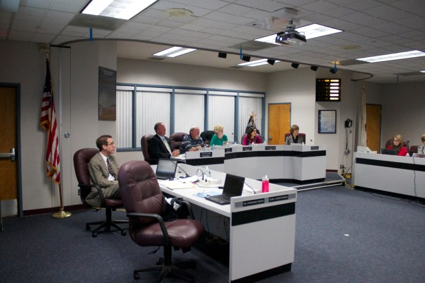 March 2014. Santee School District Board. Leo Castaneda/inewsource