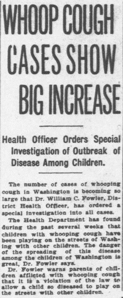 A story in the June 2, 1919 edition of the Washington Times. Credit: Library of Congress.