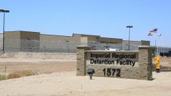 Outside of Imperial Regional Detention Facility in Calexico, CA where Rodriguez was detained. July 18, 2015, Meg Wood/inewsource