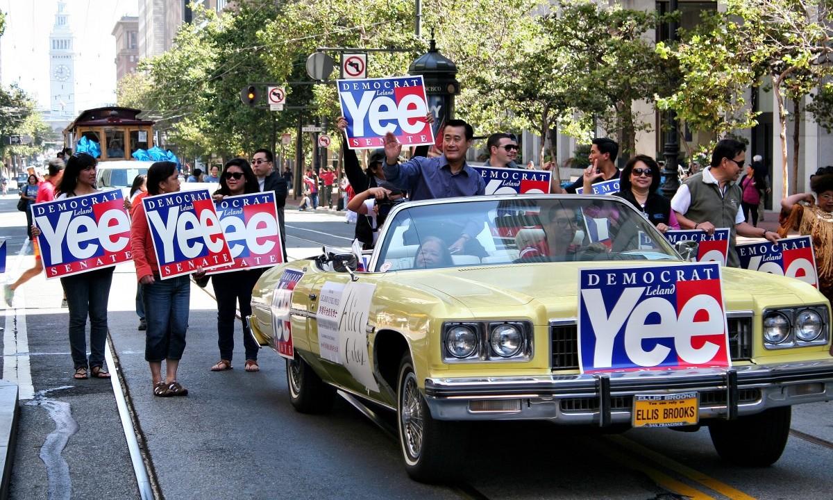 State Senator Leland Yee at a parade in 2011. Photo by John Martinez Pavliga, Flickr