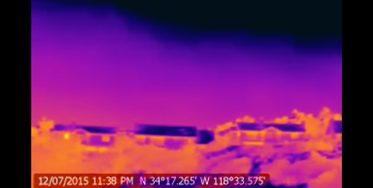 Infrared video of a methane gas leak near the Porter Ranch community in Los Angeles County. Courtesy of YouTube