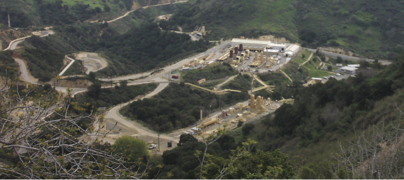 Aliso Canyon natural gas storage facility in Los Angeles County, partial view. Companies often store natural gas underground in summer, then distribute it for winter heating. Photo: SoCal Gas