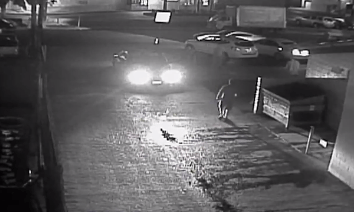 A still frame taken from surveillance video footage that recorded the April shooting of Fridoon Nehad. San Diego County District Attorney's Office.