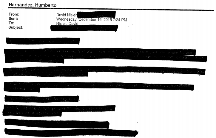 The city of San Diego responded to an inewsource records request by releasing a heavily redacted document containing meeting notes related to a fatal police shooting.