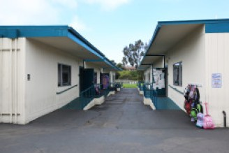Two rows of portables sit across from each other in Solana Vista Elementary in the Solana Beach School District. April 12, 2016. Megan Wood, inewsource