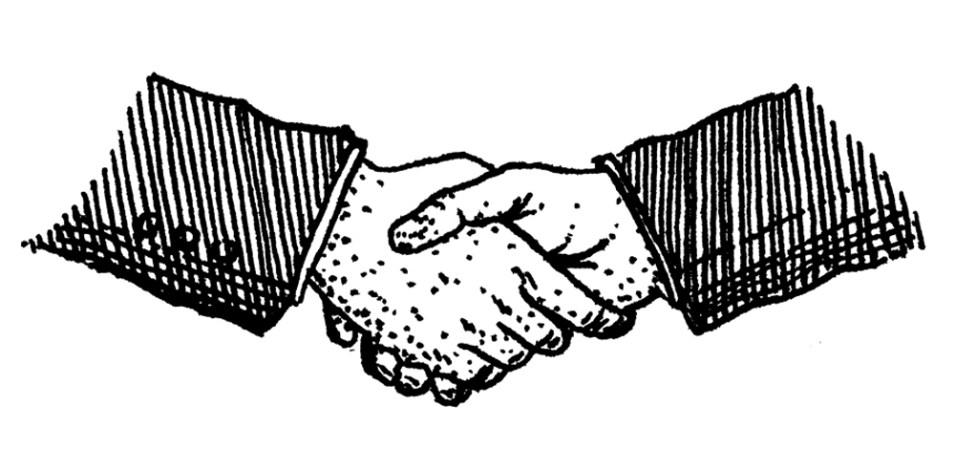 Chlapek handshake