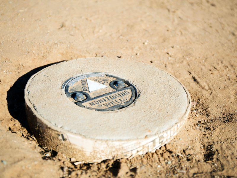 A new monitoring well near a mobile home park in El Cajon. Oct. 19, 2016. Meg Wood/inewsource
